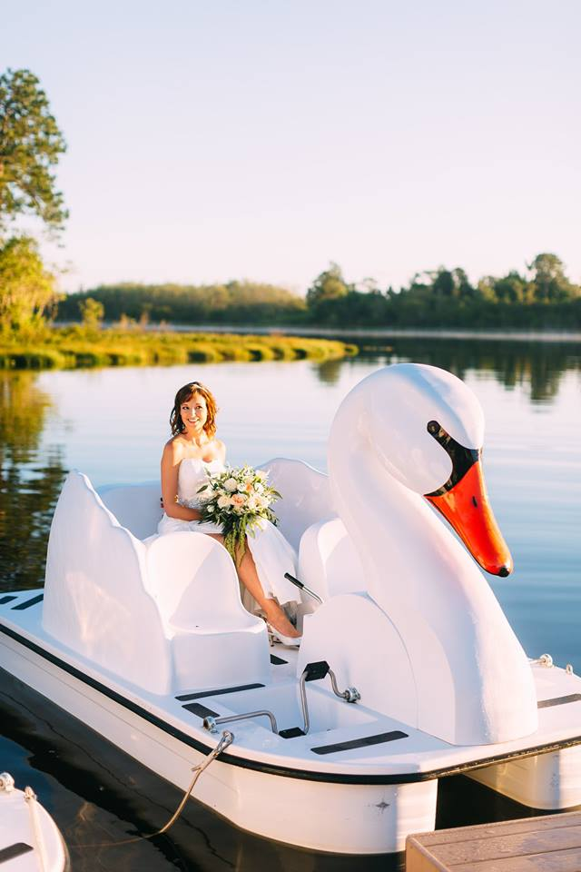 beach wedding inspiration swan lake