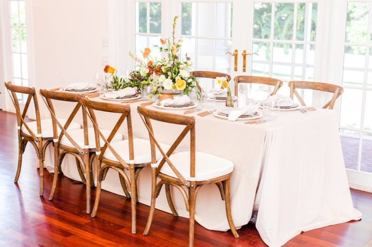 Luxmore Grande Estate wedding trends A Chair Affair French country chairs