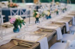 Bartow Tent Wedding in Blue and White