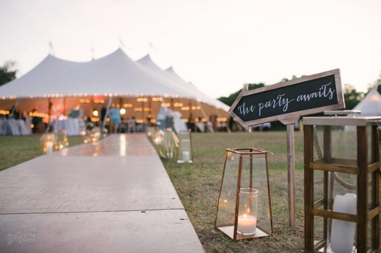 Bartow Tent Wedding A Chair Affair tent entrance