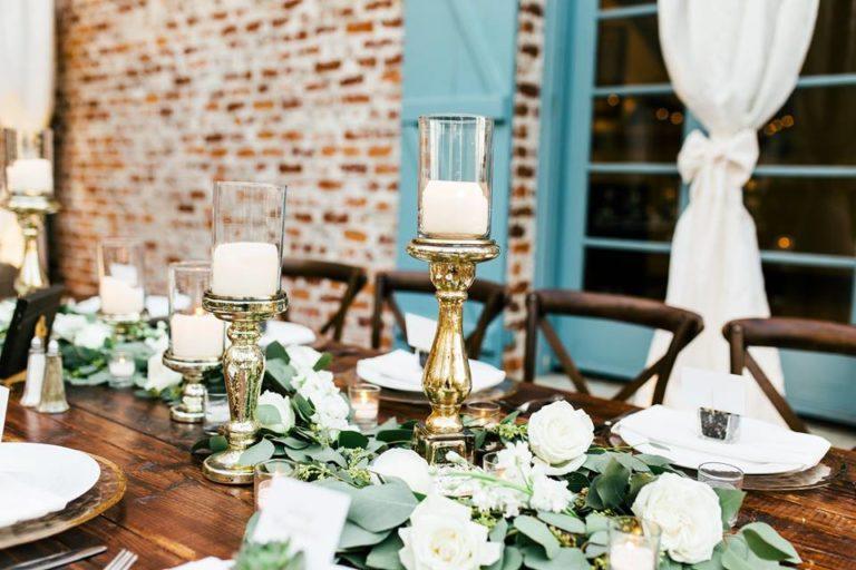 Casa Feliz Wedding A Chair Affair mahogany tables French country chairs
