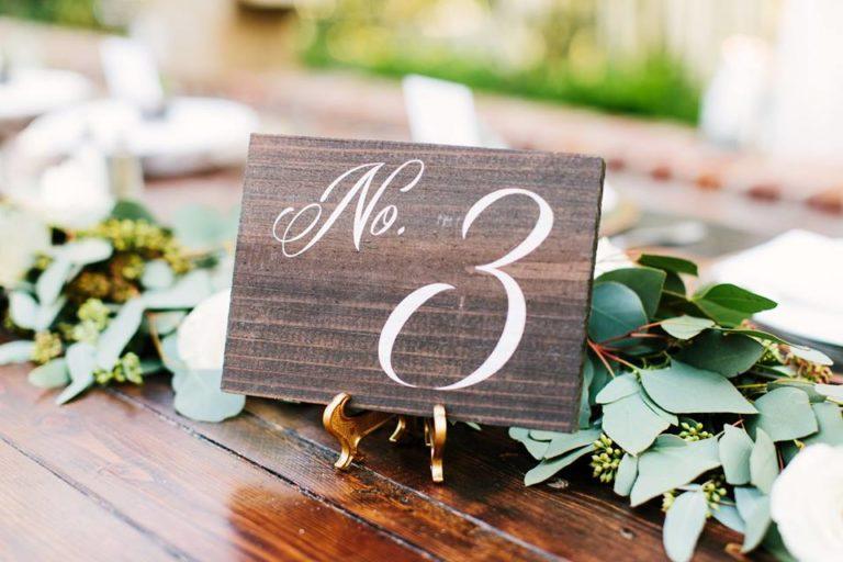 Casa Feliz Wedding A Chair Affair table number