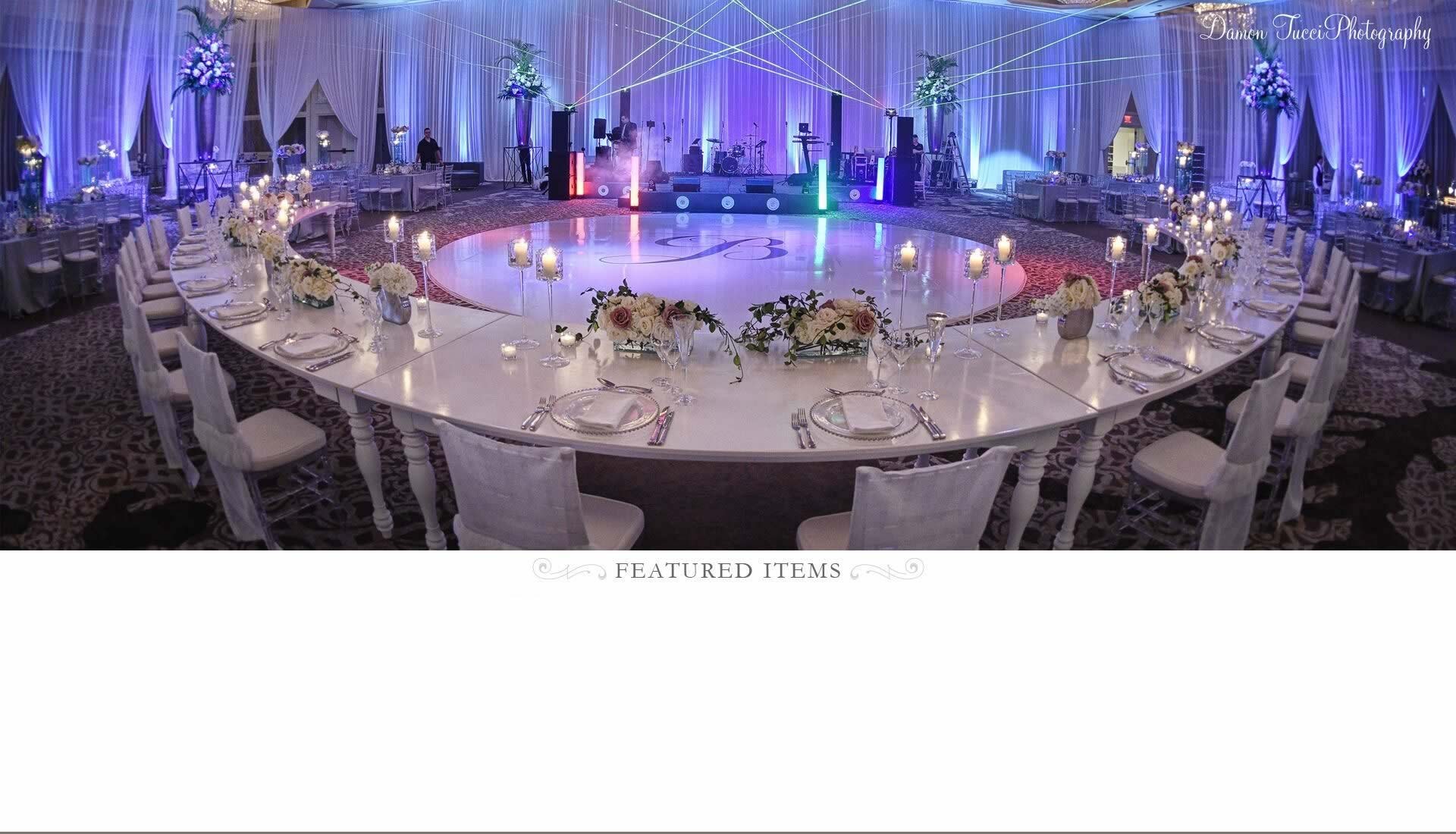 Custom Wedding Tables - A Chair Affair Rentals