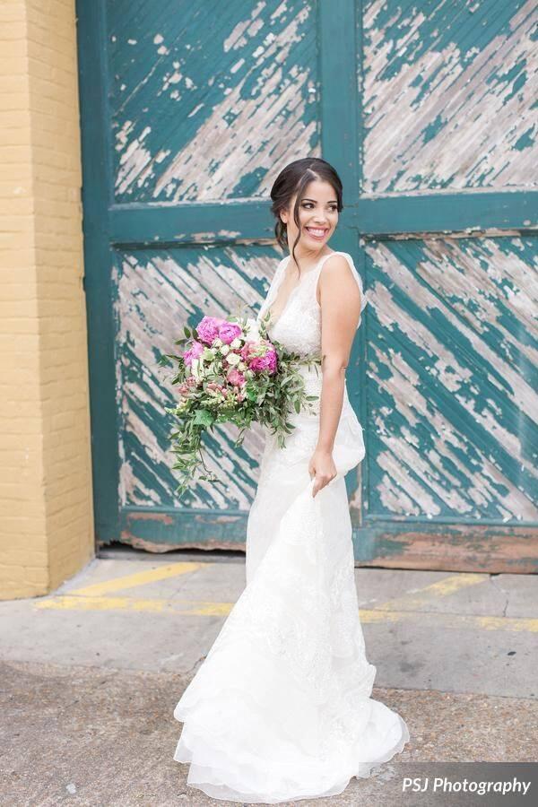Downtown Deland Wedding Shoot A Chair Affair gown
