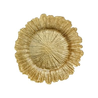 Gold Sea Sponge Glass Charger