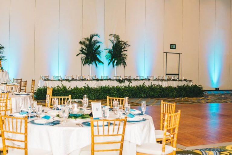 Hilton Orlando Bonnet Creek Wedding A Chair Affair chiavari chairs peacock glass chargers 4