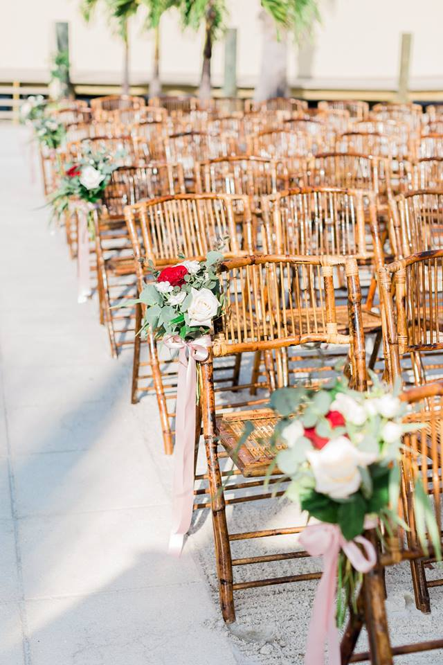 Isla Del Sol Yacht Club Wedding A Chair Affair bamboo chairs