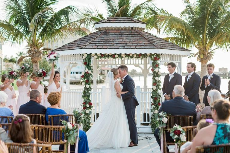 Isla Del Sol Yacht Club Wedding A Chair Affair bamboo folding chairs