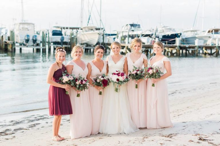 Isla Del Sol Yacht Club Wedding A Chair Affair bridal party'