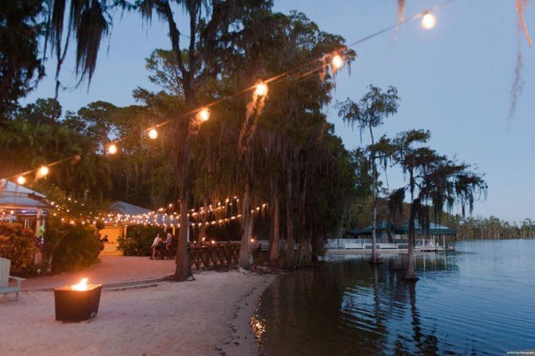Paradise Cove Orlando Wedding A Chair Affair beach sunset