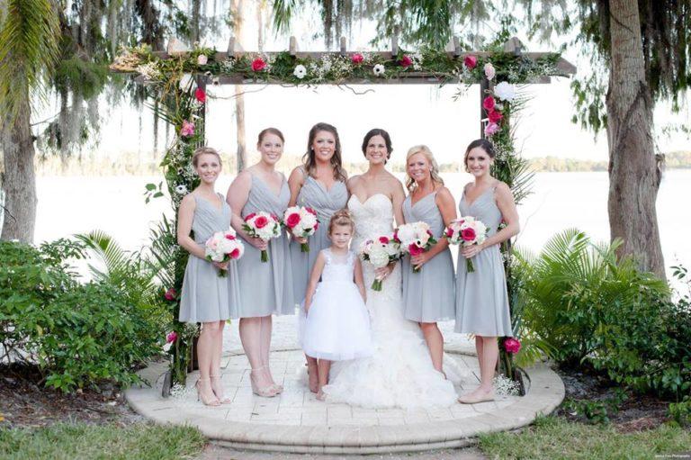 Paradise Cove Orlando Wedding A Chair Affair bridal party