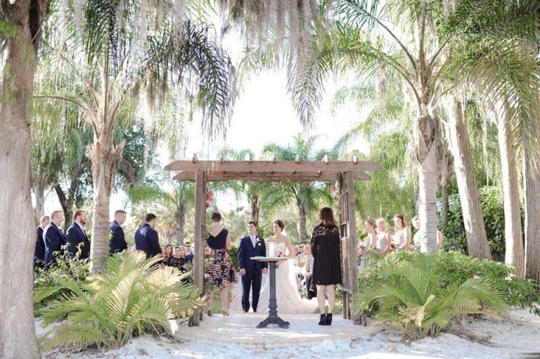 Paradise Cove Orlando Wedding A Chair Affair ceremony