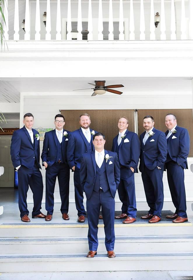 Paradise Cove Orlando Wedding A Chair Affair groomsmen