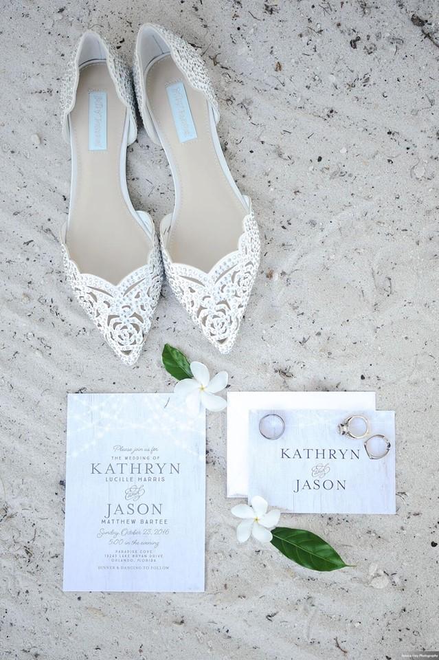 Paradise Cove Orlando Wedding A Chair Affair invitations