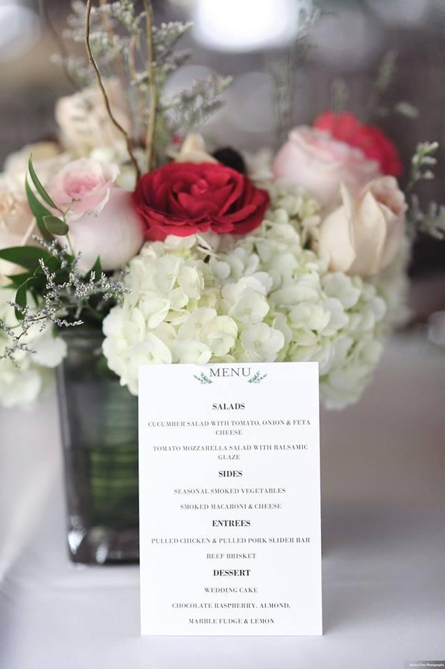 Paradise Cove Orlando Wedding A Chair Affair menu white linen