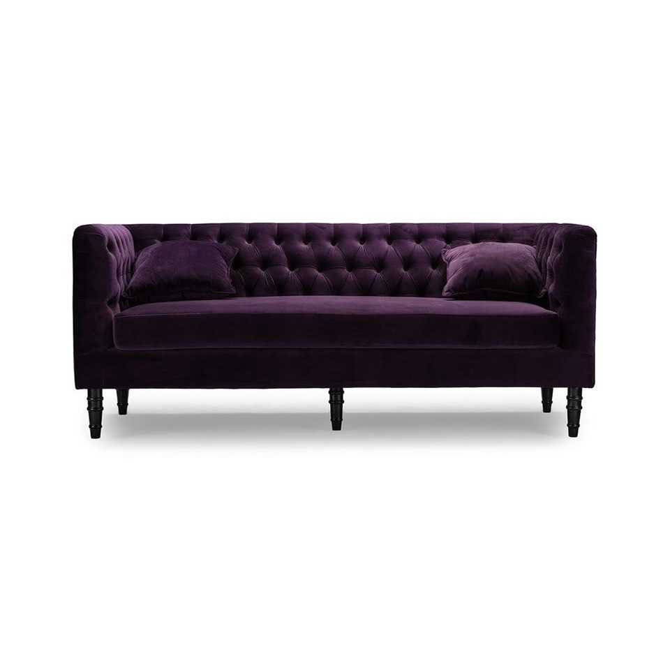 Purple sofa a chair affair inc for Purple sofa