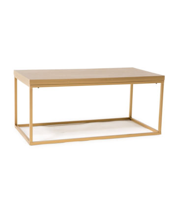 The Mabel Gold Coffee Table - A Chair Affair Rentals