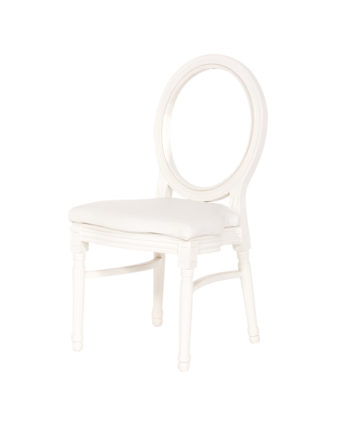 White King Louis Chair - White Pad - A Chair Affair Rentals