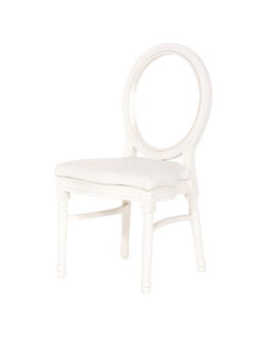White King Louis Chair – White Pad – A Chair Affair Rentals