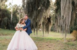 Rustic Skyline Ranch Wedding in Pink and Blue