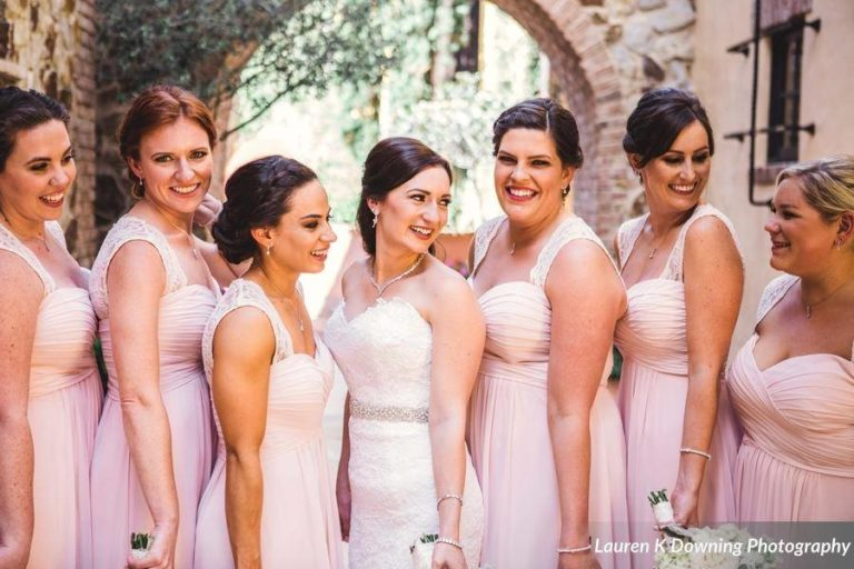 Bella Collina Wedding A Chair Affair bridal party