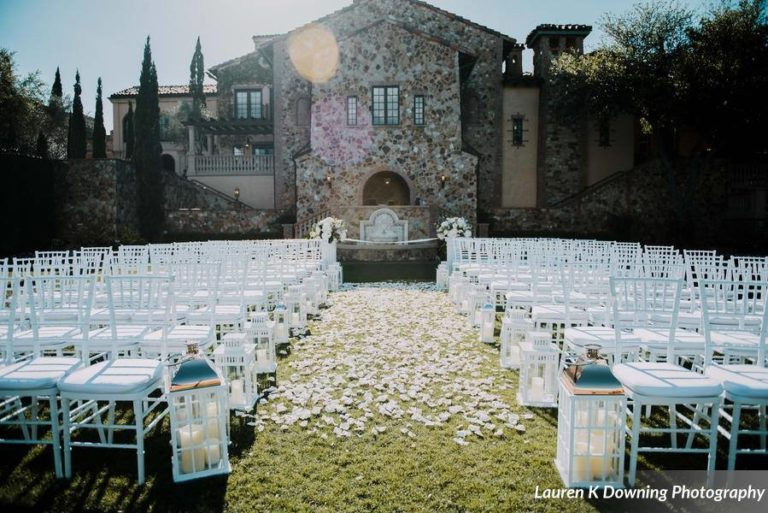 Bella Collina Wedding A Chair Affair white folding chairs
