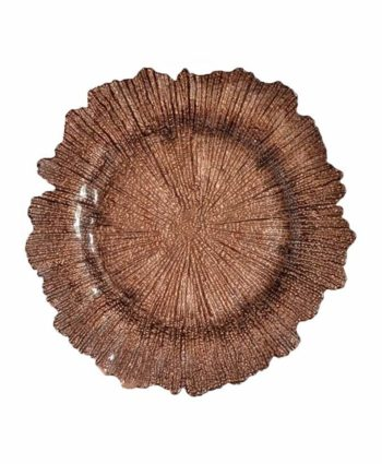 Brown Sea Sponge Glass Charger