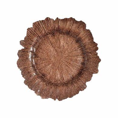 Brown Sea Sponge Glass Charger