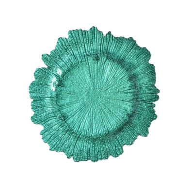 Mint Sea Sponge Glass Charger