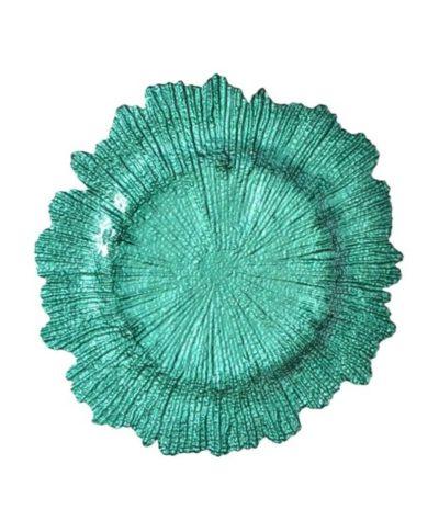 Mint Sea Sponge Glass Charger A Chair Affair Inc