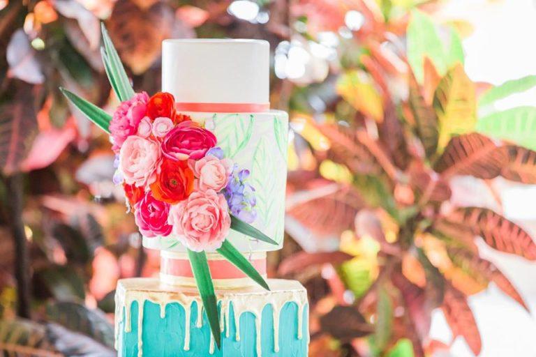 Paradise Cove wedding A Chair Affair cake