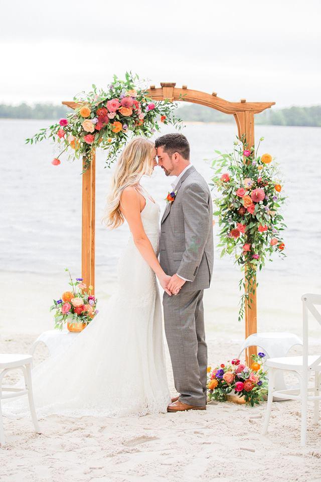 Tropical Paradise Cove Wedding Photo Shoot A Vibrant