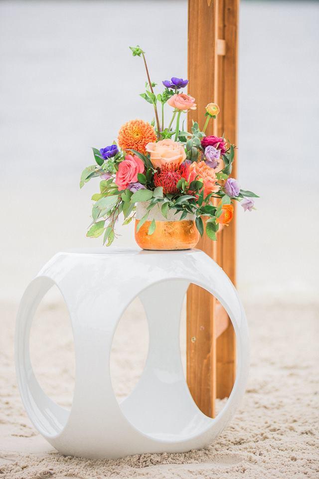 Paradise Cove wedding A Chair Affair rio end table 2