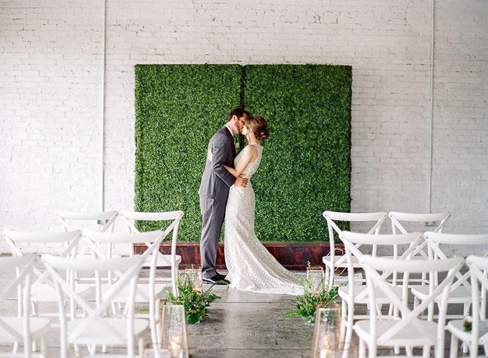 Modern Haus 820 Green Wedding Inspiration Shoot A Chair