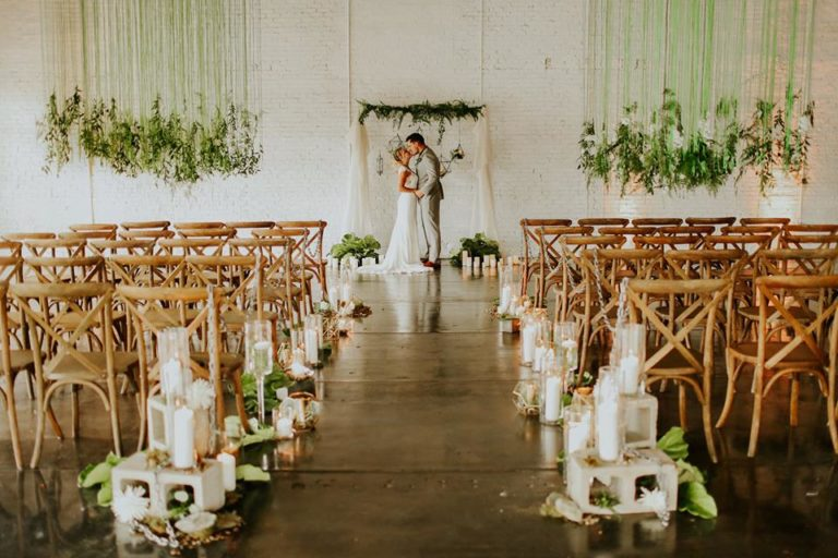 industrial wedding inspiration a chair affair french country chair ceremony 2