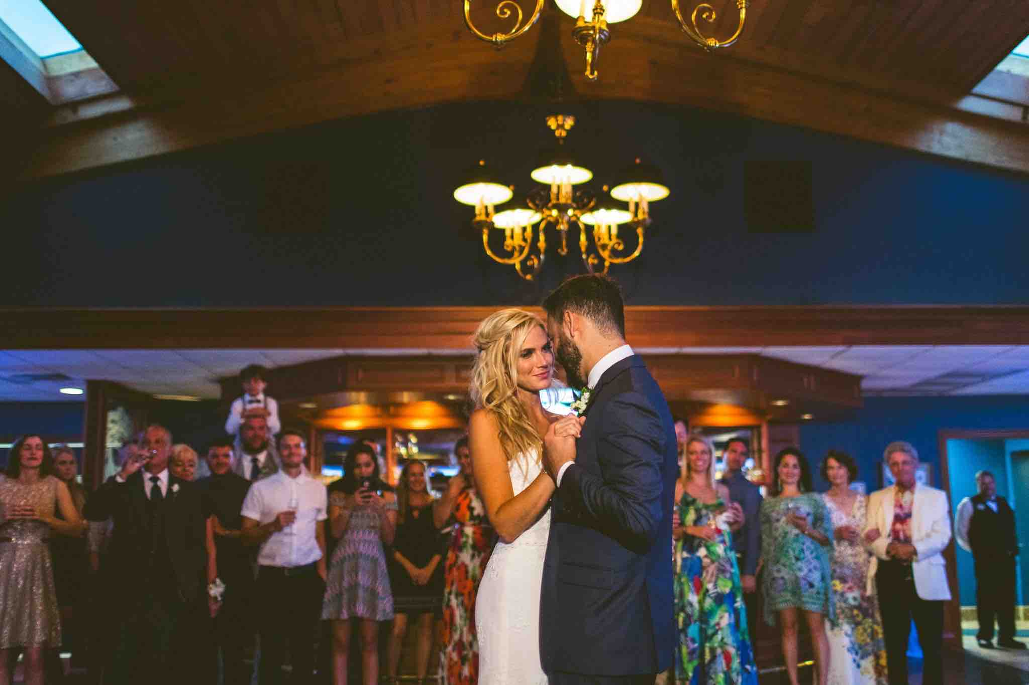 Waterfront Wedding at Eau Gallie Yacht Club A Chair Affair First Dance