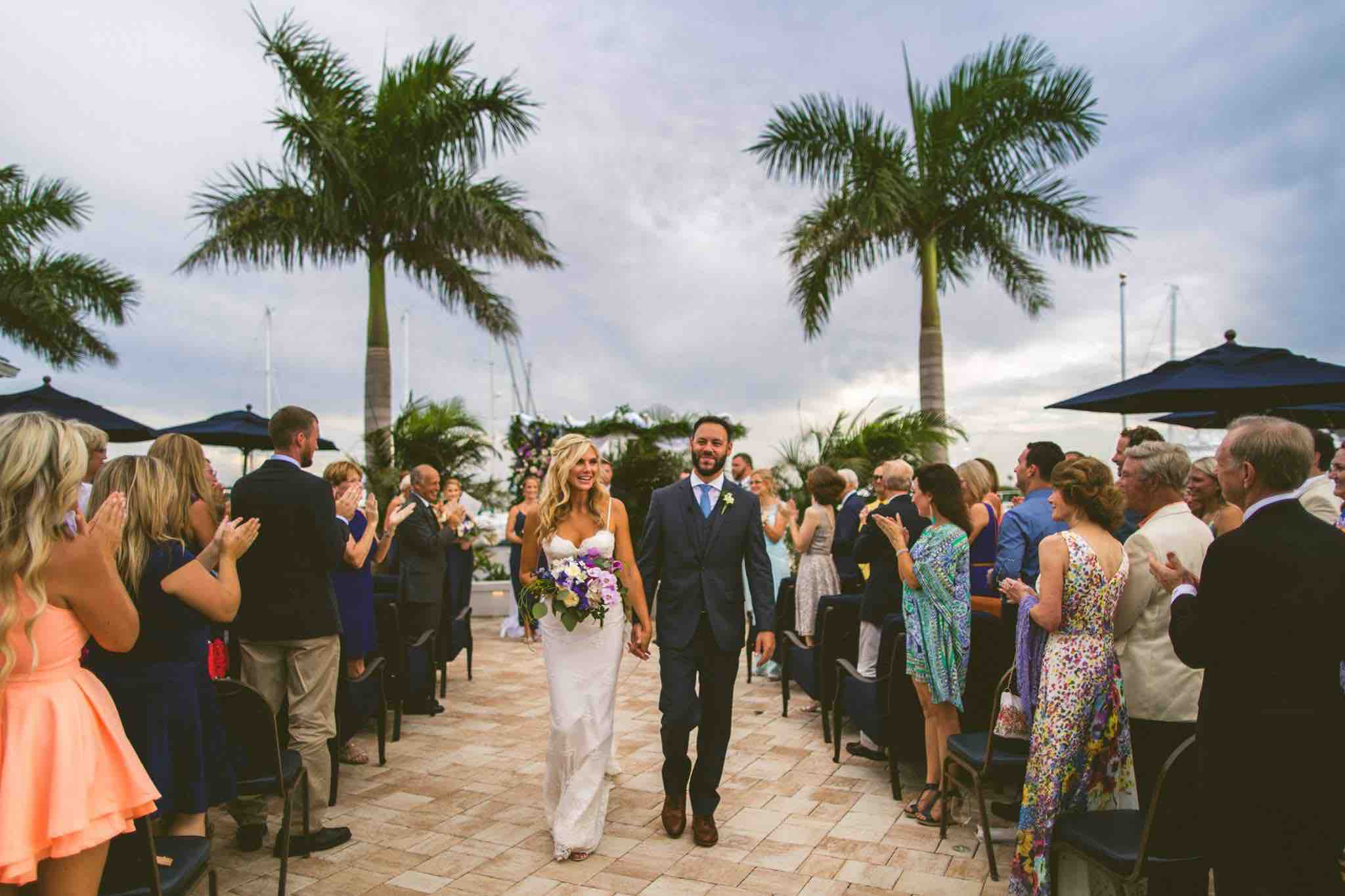 Waterfront Wedding at Eau Gallie Yacht Club A Chair Affair Ceremony
