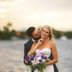 Waterfront Wedding at Eau Gallie Yacht Club A Chair Affair Couple