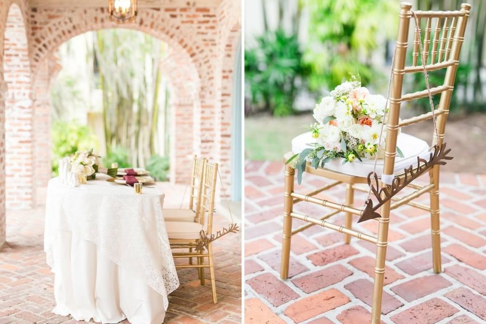 Casa Feliz Wedding A Chair Affair gold chiavari chair