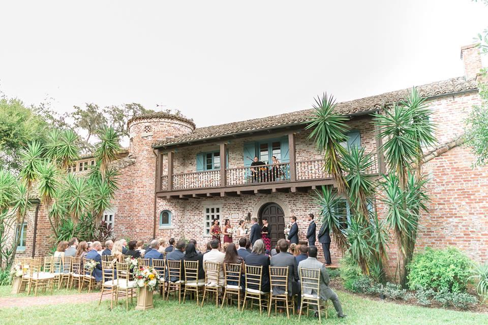 Casa Feliz Wedding A Chair Affair gold chiavari chairs ceremony