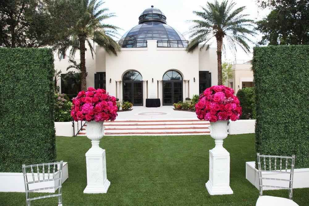 Classic Black and White Alfond Inn Wedding A Chair Affair White Base Hedge Walls