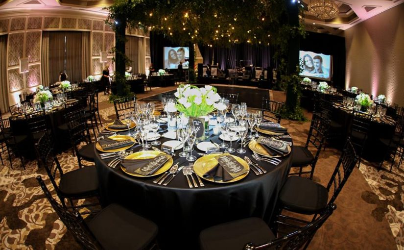 Four Seasons Black and Blush Wedding and Rehearsal Dinner