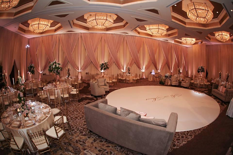 Four Seasons Wedding A Chair Affair gold rim charger chiavari chair 2
