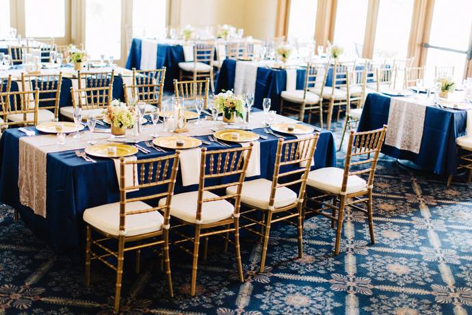 Mission Inn Resort Wedding A Chair Affair gold chiavari chairs