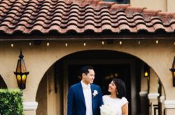 Navy and Gold Mission Inn Resort Wedding