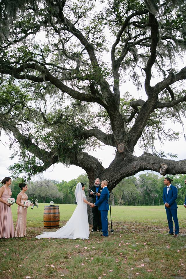 October Oaks Farm Wedding A Chair Affair ceremony