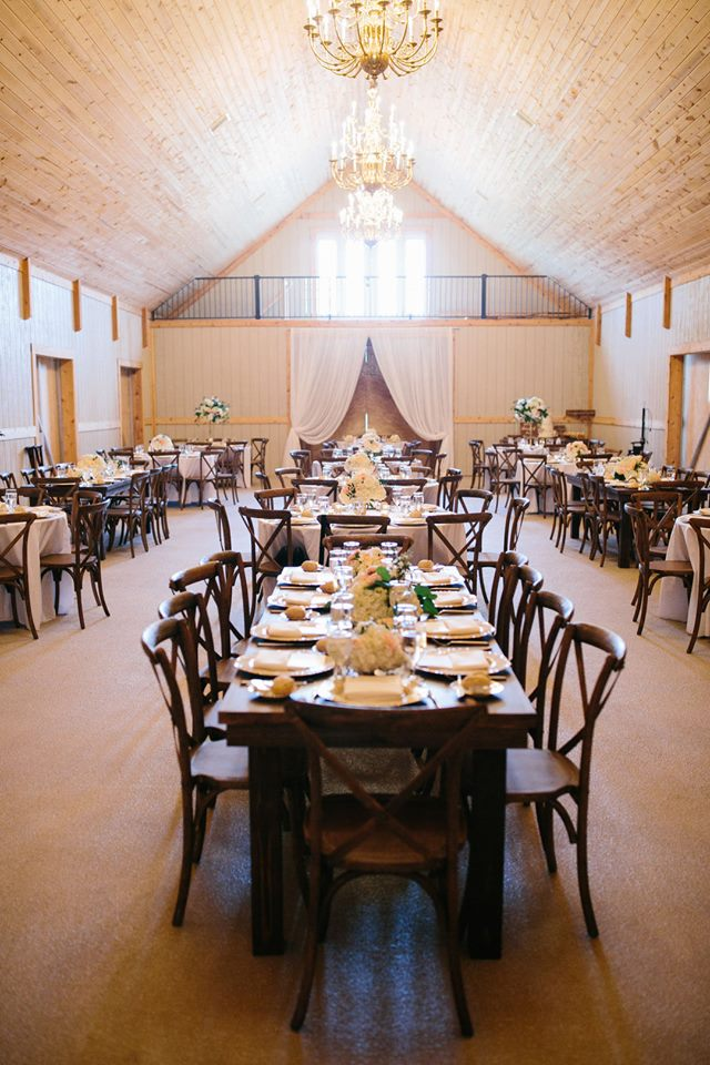 October Oaks Farm Wedding A Chair Affair mahogany french country chairs gold octo chargers 4