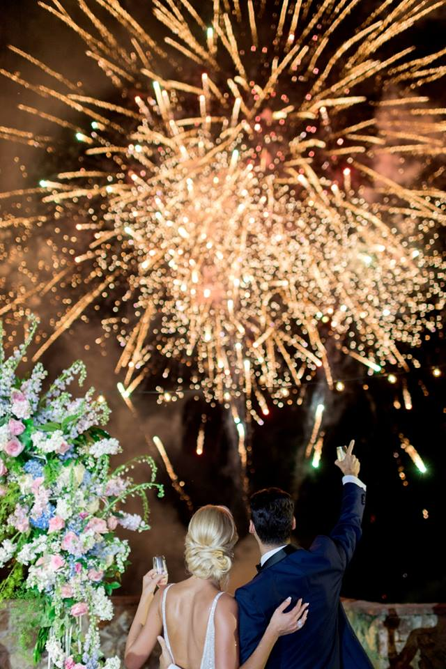 bella collina wedding a chair affair fireworks