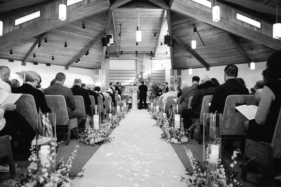 black and white wedding A Chair Affair ceremony 2