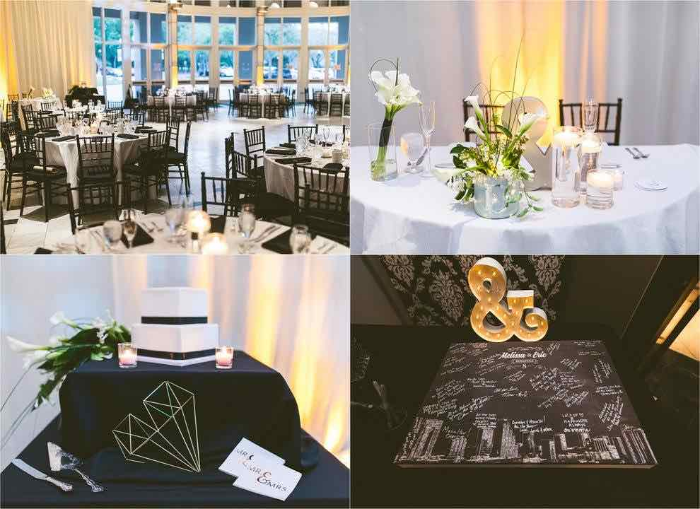 Artsy Black and White Wedding A Chair Affair Black Chiavari Chairs Reception